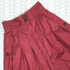 FEI Pink Pleated High Waisted Skirt